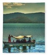 Ferry - Lago De Coatepeque - El Salvador Fleece Blanket