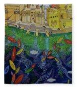 Ferry To The City Of Gold II Fleece Blanket