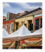 Festival New Orleans Seafood - French Quarter Fleece Blanket