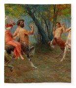 Festival Of Centaurs Fleece Blanket