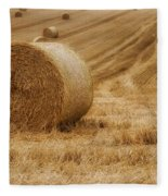 Festival Of Hay Balls In Scotland Fleece Blanket