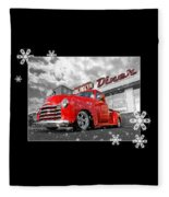 Festive Chevy Truck Fleece Blanket