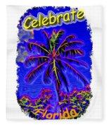 Festive Palm Fleece Blanket