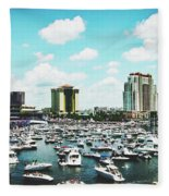 Festive Tampa Bay Fleece Blanket