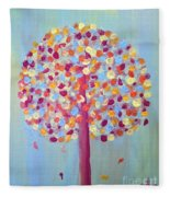 Festive Tree Fleece Blanket