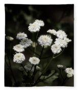 Feverfew - Tanacetum Parthenium Fleece Blanket