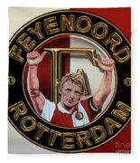 Feyenoord Rotterdam Painting Fleece Blanket