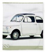 Fiat 500 Fleece Blanket