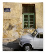 Fiat 600. Belgrade. Serbia Fleece Blanket