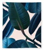 Ficus Elastica 2 Fleece Blanket