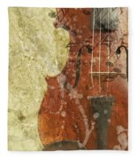 Fiddle In Grunge Style Fleece Blanket