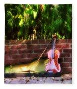 Fiddle On The Garden Wall Fleece Blanket