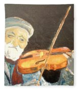 Fiddler Blue Fleece Blanket