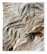 Fiddler Crab On Driftwood Fleece Blanket