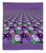 Field Of African Violets Fleece Blanket