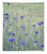 Field Of Bachelor Buttons Fleece Blanket