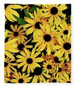 Field Of Black-eyed Susans Fleece Blanket