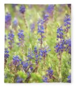 Field Of Blue Lupines  Fleece Blanket