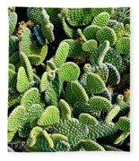 Field Of Cactus Paddles Fleece Blanket