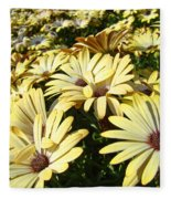 Field Of Daisies Landscape Floral Art Prints Daisy Baslee Troutman Fleece Blanket
