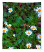 Field Of Daisys  Fleece Blanket