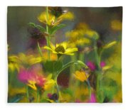 Field Of Flowers Paint Fleece Blanket