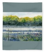 Field Of Frost Fleece Blanket