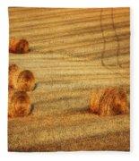 Field Of Gold #3 Fleece Blanket
