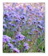 Field Of Lavendar Fleece Blanket