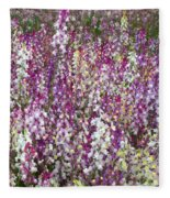 Field Of Multi-colored Flowers Fleece Blanket