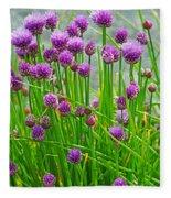 Field Of Onions  Fleece Blanket