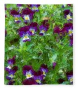 Field Of Pansy's Fleece Blanket
