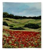 Field Of Poppies Fleece Blanket