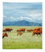 Field Of Reds Fleece Blanket