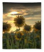 Field Of Sunflowers Fleece Blanket