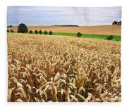Field Of Wheat Fleece Blanket