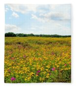 Field Of Wildflowers Fleece Blanket