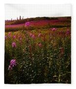 Fields In Pink Fleece Blanket