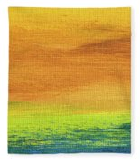 Fields Of Gold 2 - Abstract Summer Landscape Painting Fleece Blanket