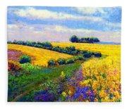 Fields Of Gold Fleece Blanket