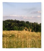 Fields Of Grain Fleece Blanket