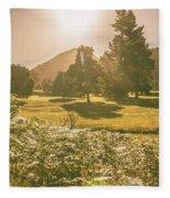 Fields Of Springtime Fleece Blanket