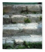 Fieldstone Stairs New England Fleece Blanket