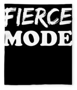 Fierce Mode Health Fitness Exercise Fleece Blanket