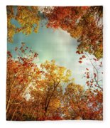 Autumn Fire Fleece Blanket