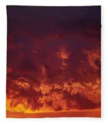 Fiery Clouds Fleece Blanket