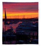 Fiery Harbor Fleece Blanket