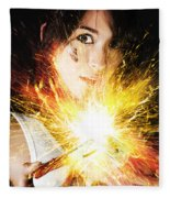 Fiery Jump Start Fleece Blanket
