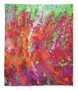 Fiery Meadow Fleece Blanket
