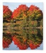 Fiery Reflections Fleece Blanket